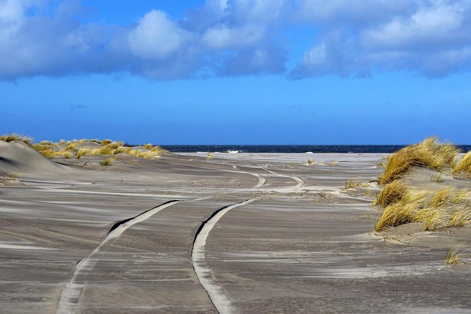 Sea, Sand, Beach, Holland, Ameland, North Sea, Clouds