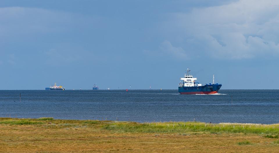 Ship, Tanker, North Sea, Water, Sea, Sky, Lake