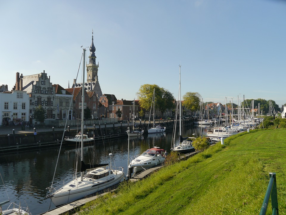 North Sea, Zeeland, Veere, Marina