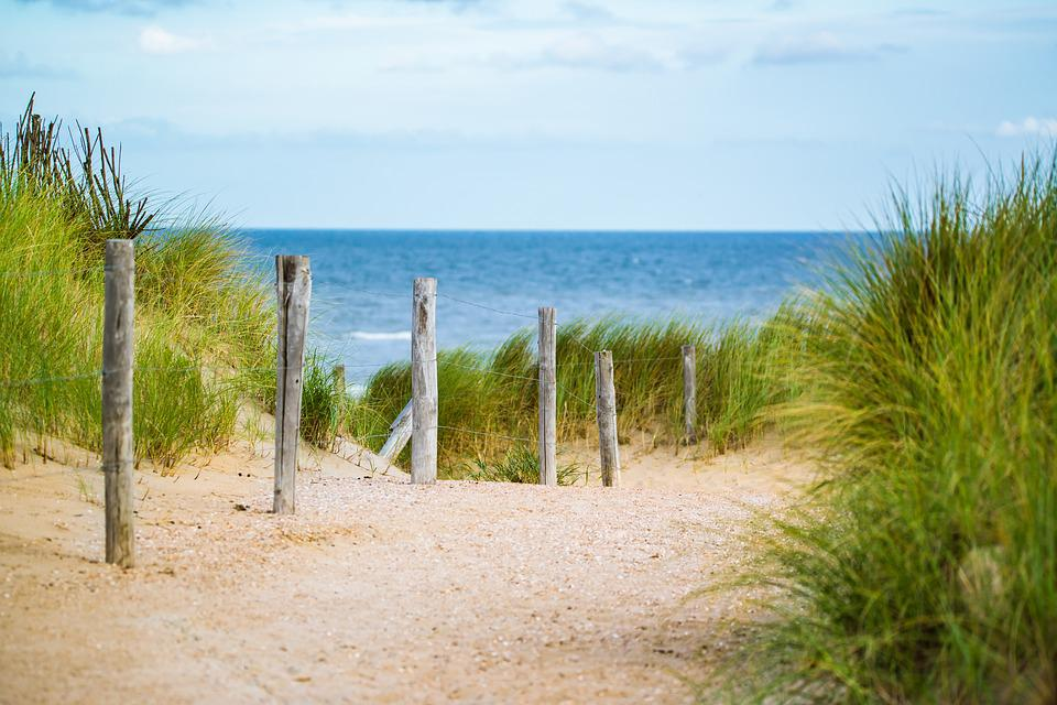 Thin, Sea, Fence, Water, Holidays, North Sea, Away