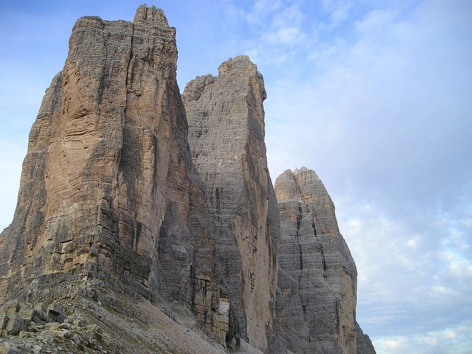 Three Zinnen, North Wall, North Side, Italy, Dolomites