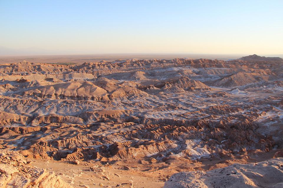 Desert, Landscape, Northern Chile, Valley Of The Moon