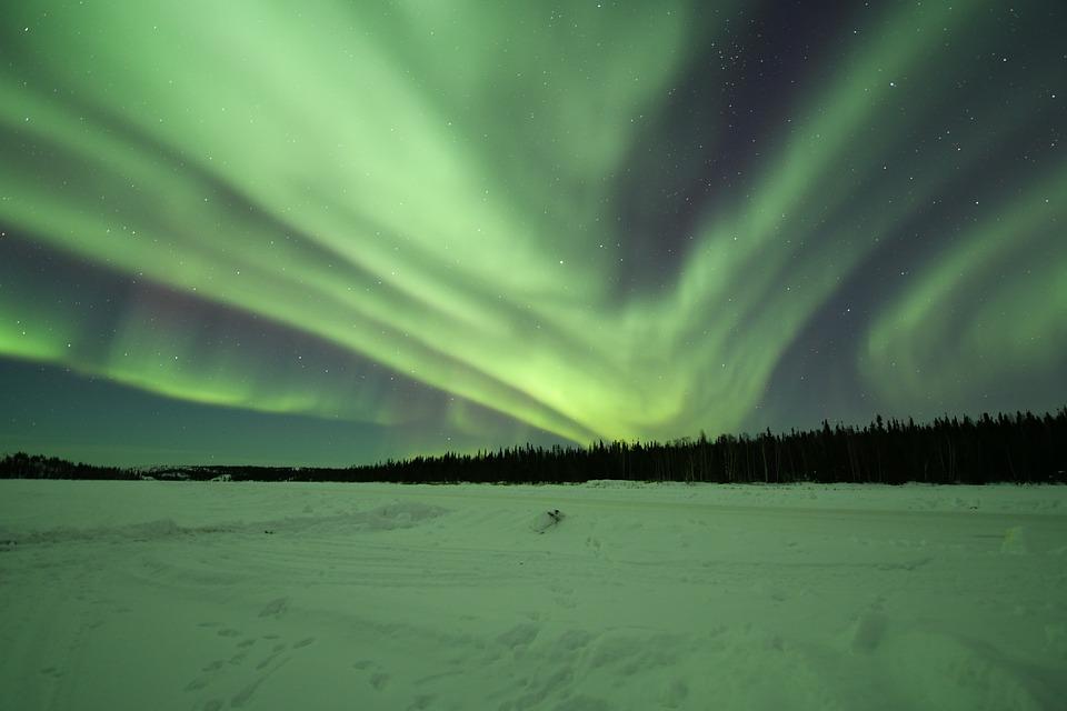 Northern Lights, Aurora Borealis, Yellowknife, Canada