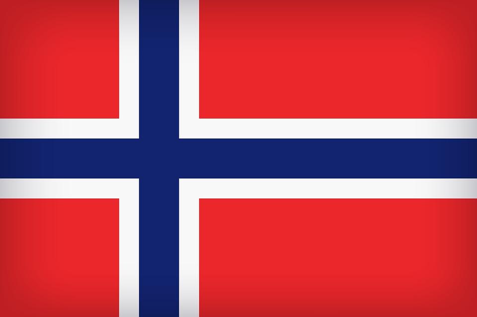Flag Of Norway, Flag, Background, Backdrop, Norway
