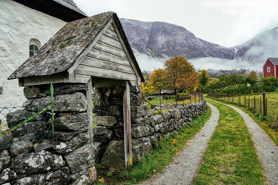 Goal, Stone Gate, Wall, Stone Wall, Norway, Felsentor