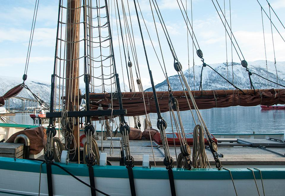 Norway, Tromso, Port, Sailboat