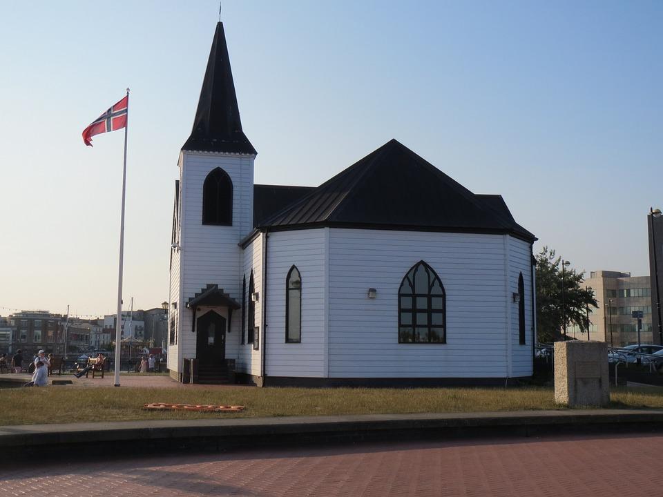 Norwegian Church, Cardiff Bay, Lutheran, Worship, White