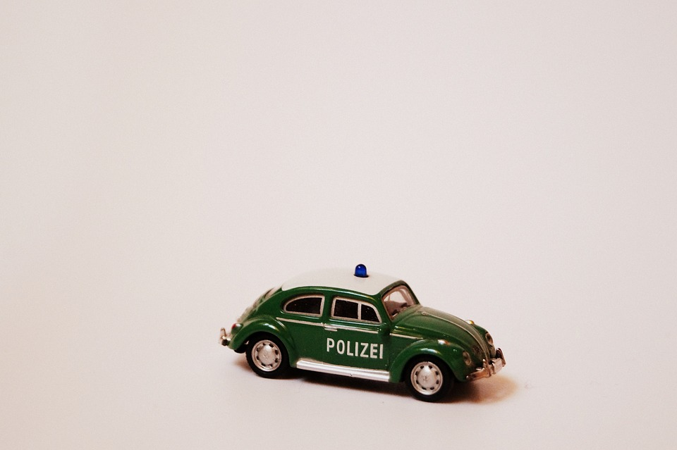 Police, Police Car, Retro, Miniature, Mini, Nostalgia