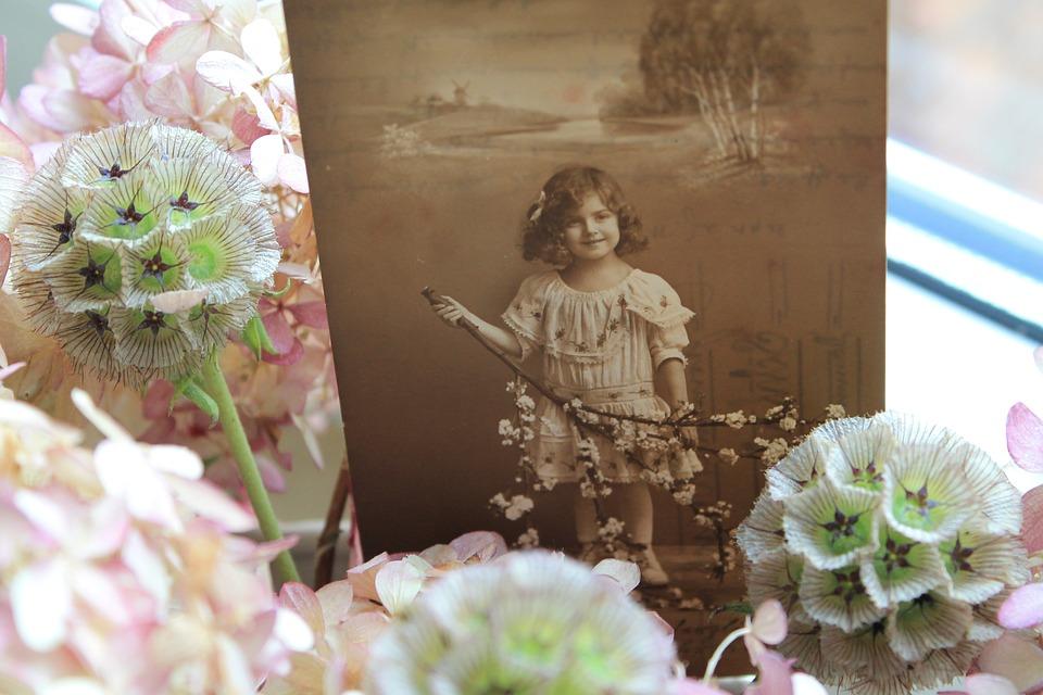 Nostalgia, Nostalgic, Old, Antique, Photo, Child