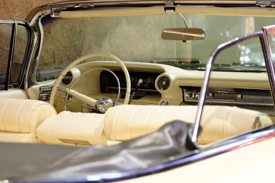 Classic Car, Dashboard, Open Car, Handle, Nostalgic