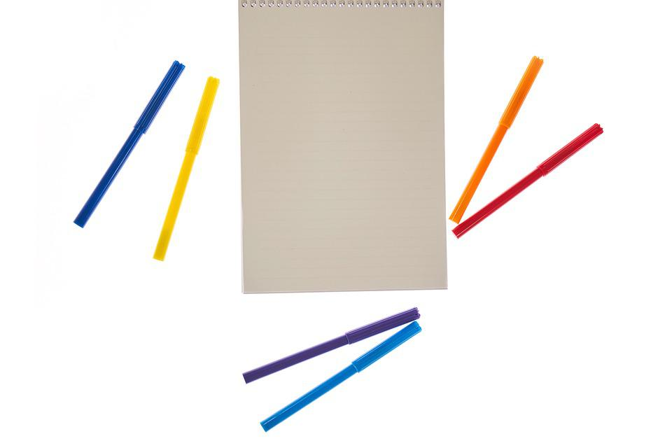 Page, Pen, Colors, To Write, Note, Paper, Notebook