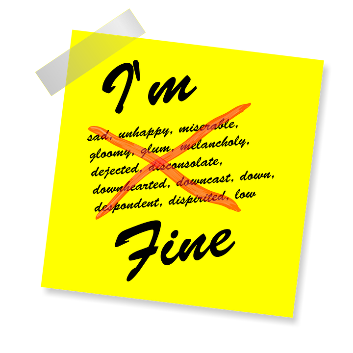 I'm Fine, Yellow Sticker, Note, Post, Reminder, Message