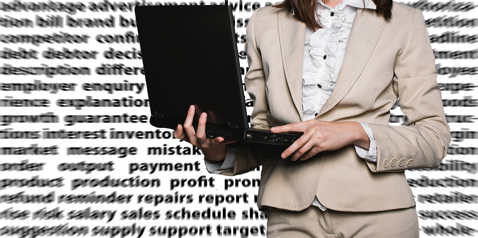 Businesswoman, Female, Laptop, Notebook, Bureaucracy