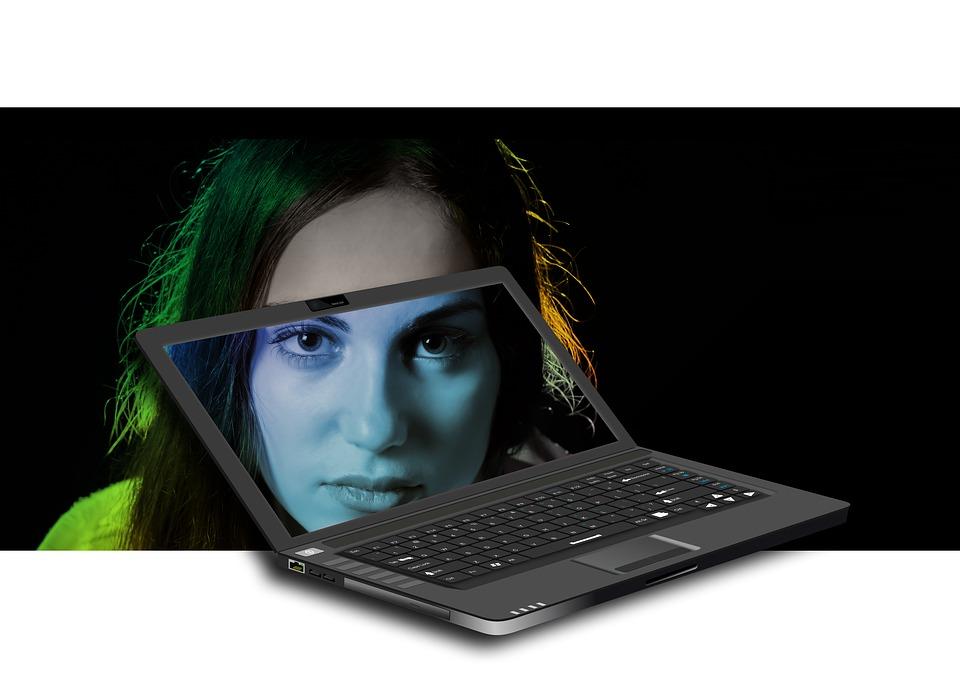 Monitor, Laptop, Model, Girl, Internet, Notebook