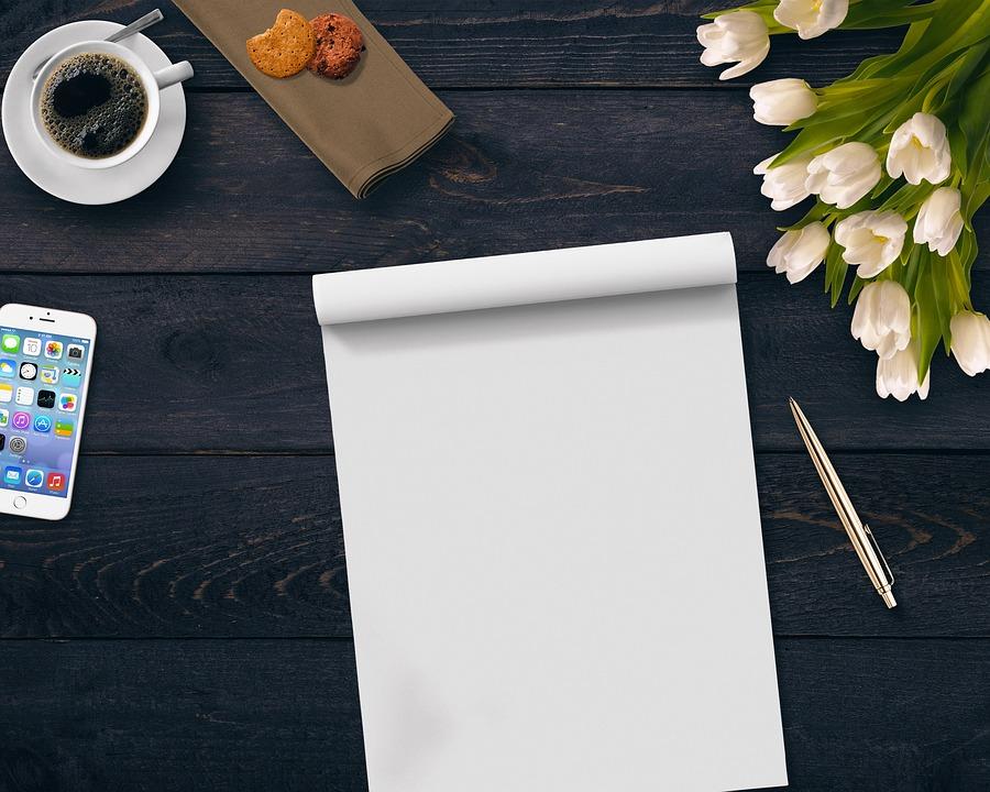 Coffee, Notepad, Flowers, Mobile Phone, Cookies, Coolie