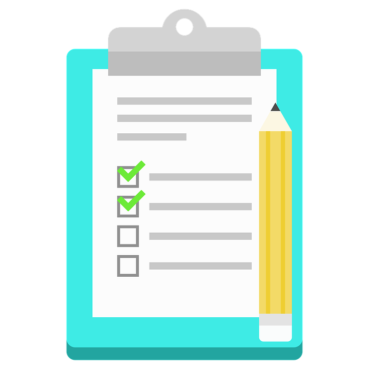 List, Notes, Icon, Flat Design, Checklist, Vector Image