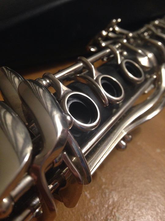 Clarinet, Instrument, Horn, Band, Music, Keys, Notes