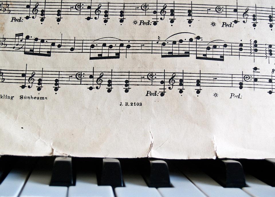 Piano Chord Charts Free: Free photo Notes Piano Old Antique Sheet Music Keys Torn - Max Pixel,Chart