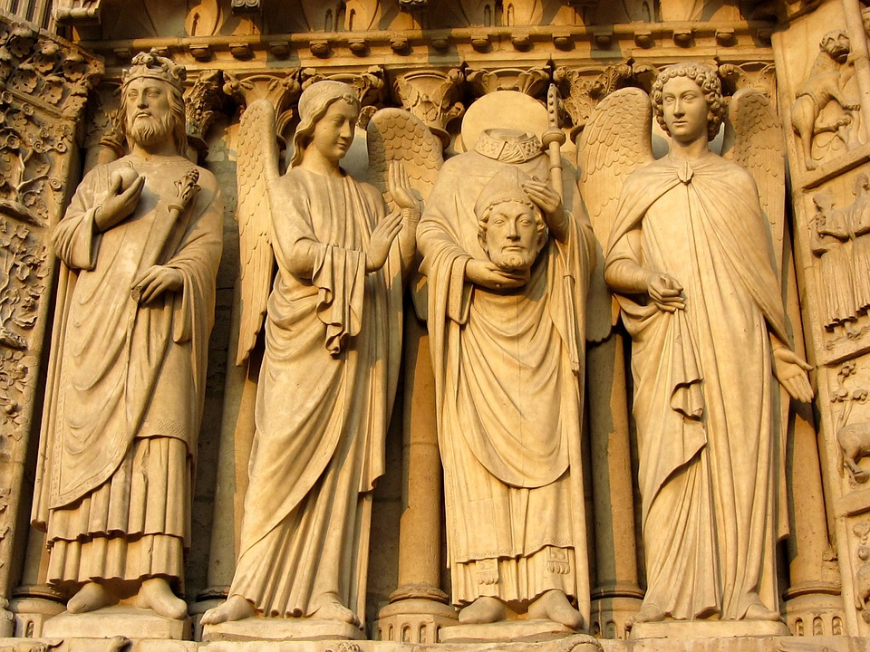 Notre Dames, Paris, Facade, Notre Dame De Chartres
