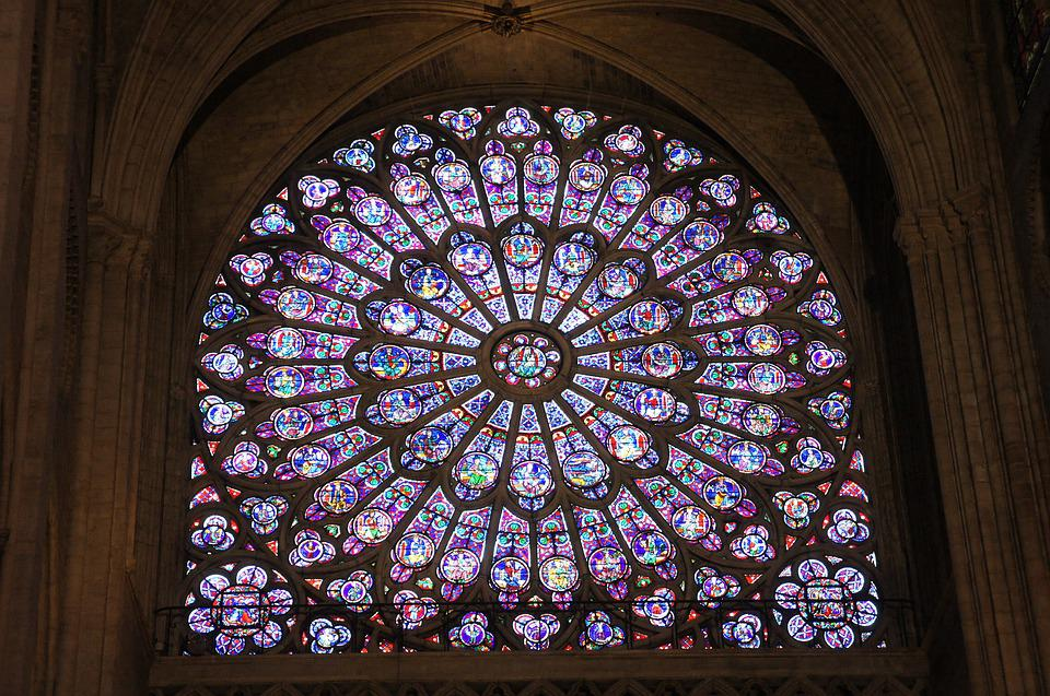 Vidral, Colors, Church, Notredame, Paris, Glass, Light