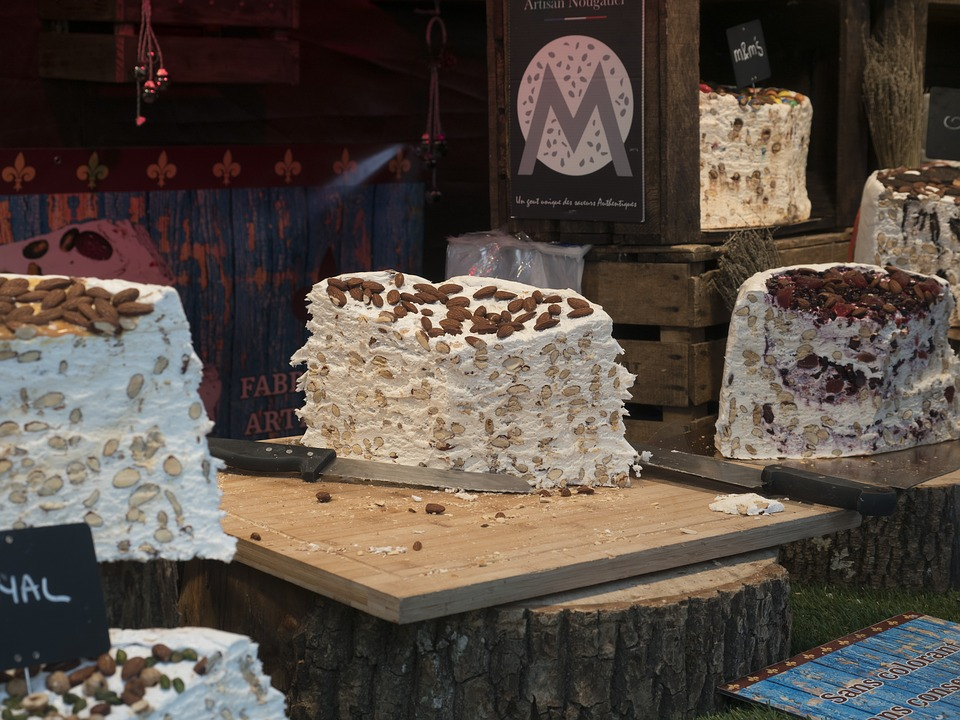 France, Nougat, Market, Sweet, Food, Delicious