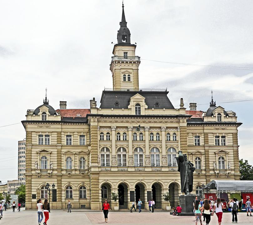 Serbia, Novi Sad, Town Hall, Town Hall Square