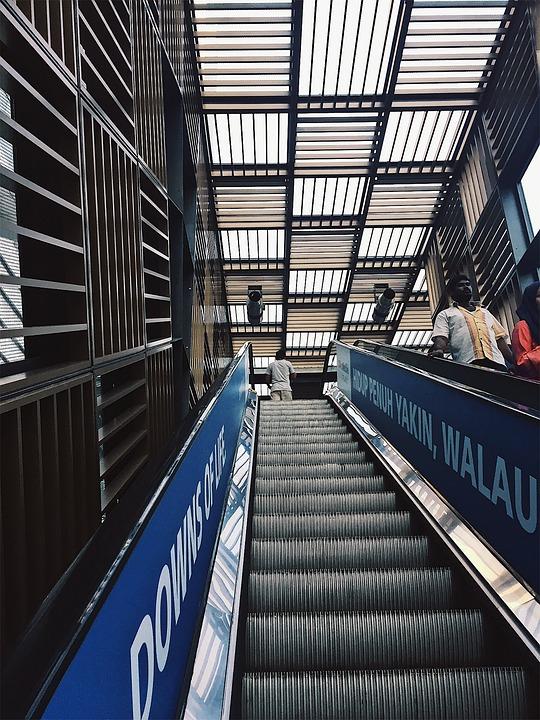 Malaysia, Nu Sentral, Kuala Lumpur, Escalator, Capital