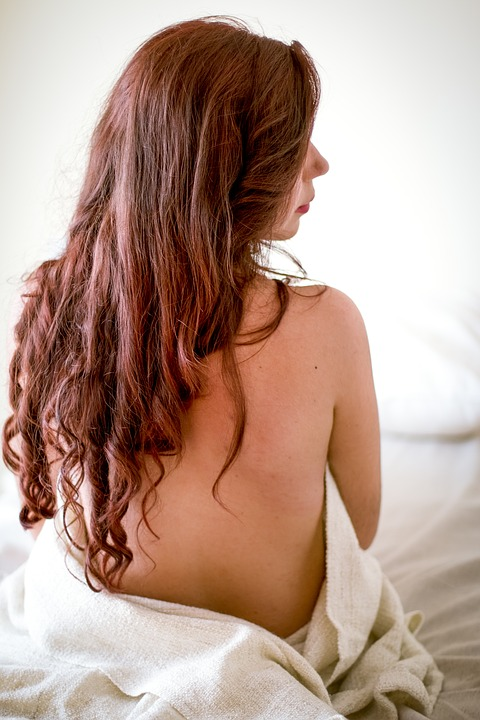 Person, Woman, Girl, Bed, Hair, Sexy, Nude, Brunette