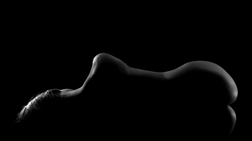 Nude, Beauty, Woman, Body, Penumbra