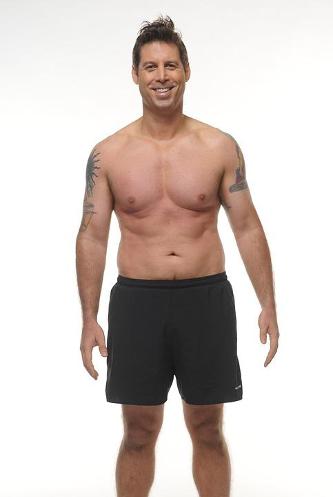 Guy, Torso, Muscular, Male, Smile, Nude, Skin, Man