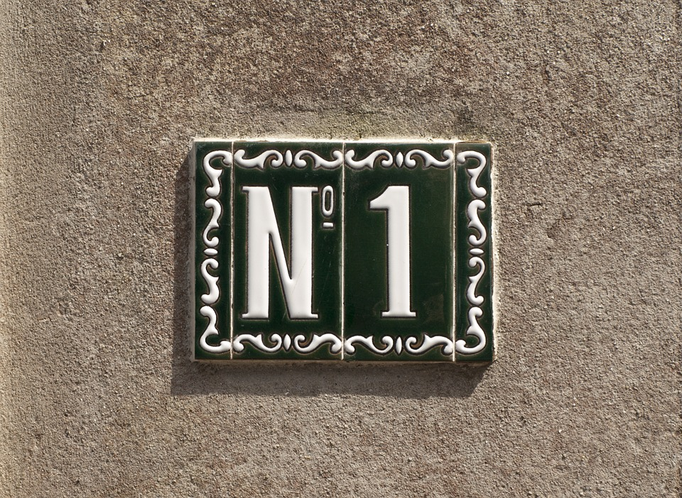First, Number, One, 1, Digit, House Number