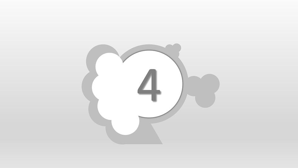Four, 4, 123, Number, Numeric, Numeral, Integer, Math