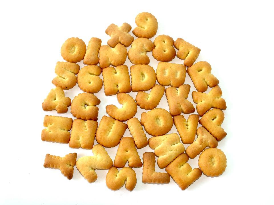 Food, Alphabet, Biscuit, Letter, Font, Baked, Number