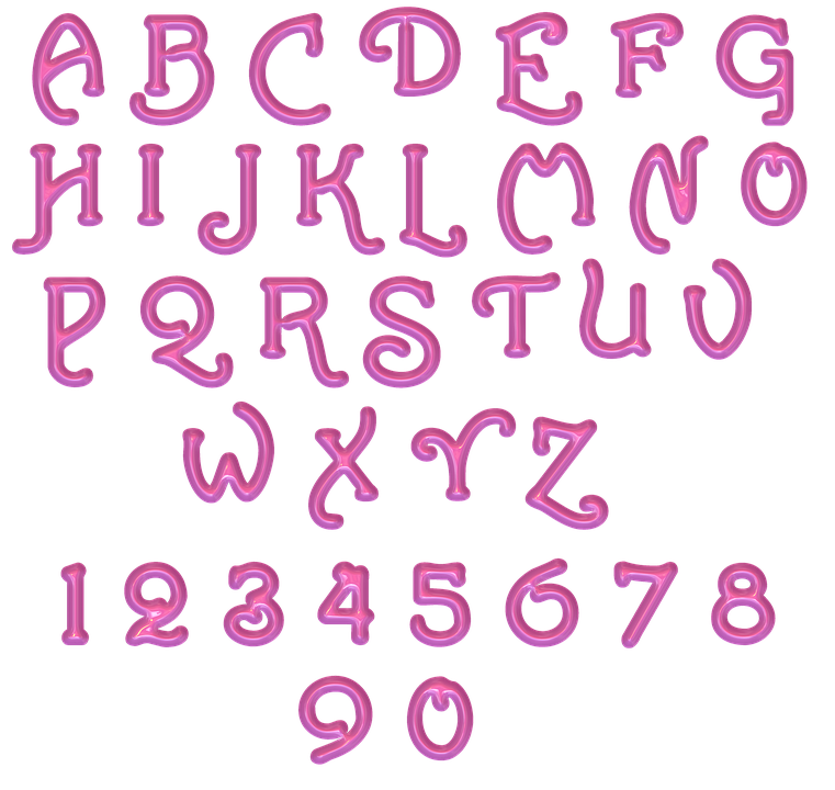 Alphabet, Letters, Numbers, Abc, Numeral, Lettering