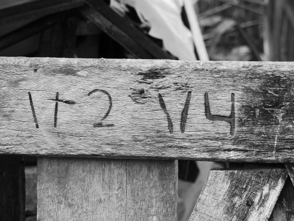 Numbers, Wood, Old, Roça, Farm, Concierge, Lock