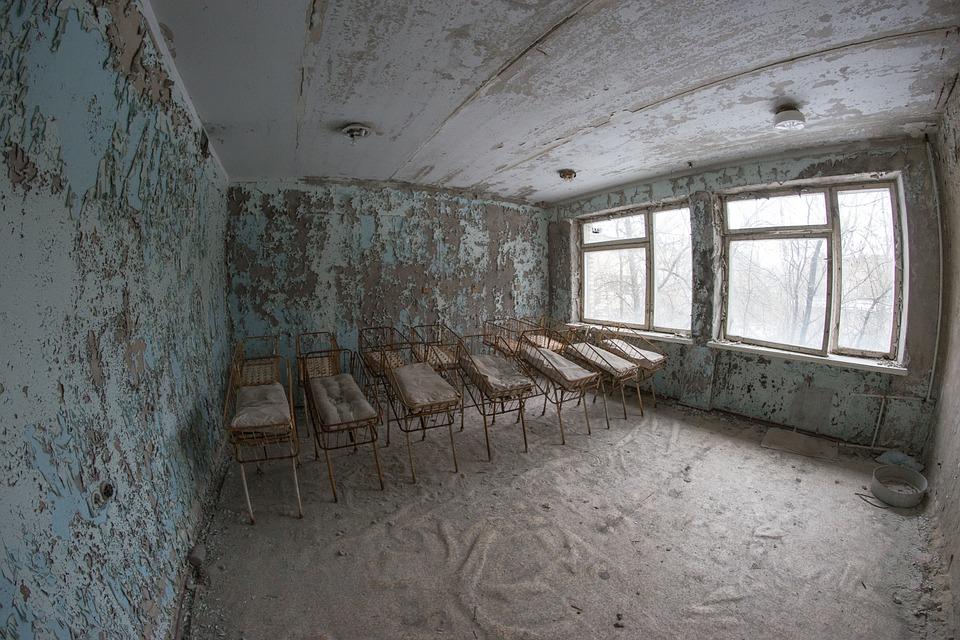 Nursery, Bed, Crib, Hospital, Pripyat, Ukraine