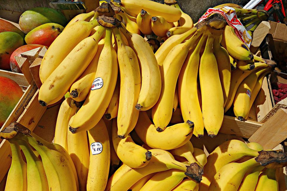 Banana, Fruit, Food, Nutrition, Bunch, Fresh