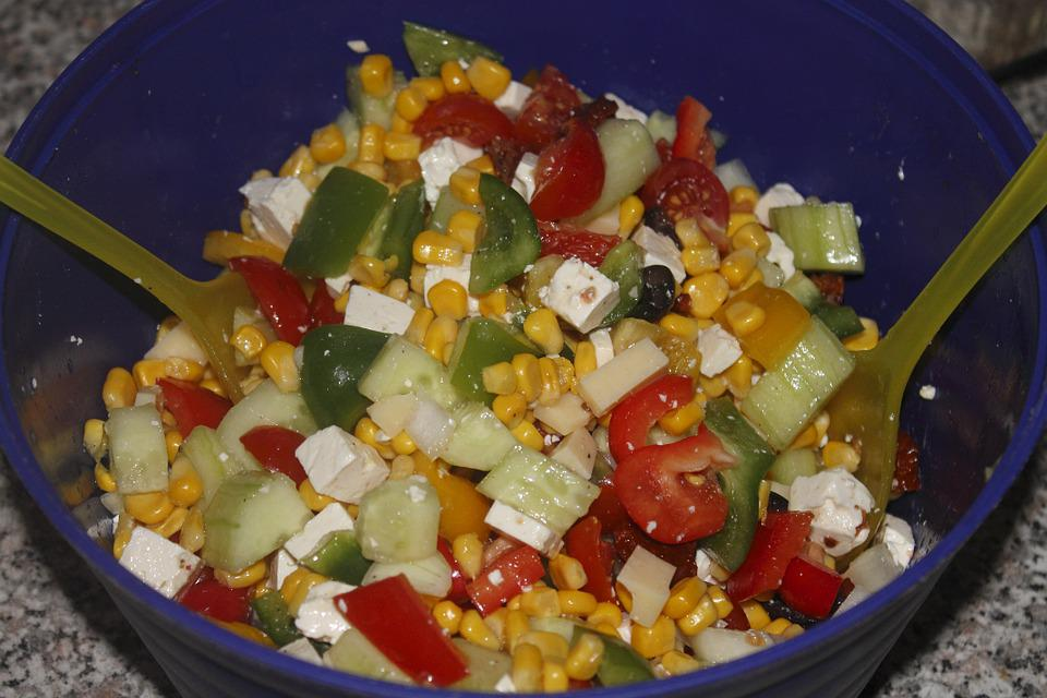 Salad, Colorful, Healthy, Vitamins, Food, Nutrition