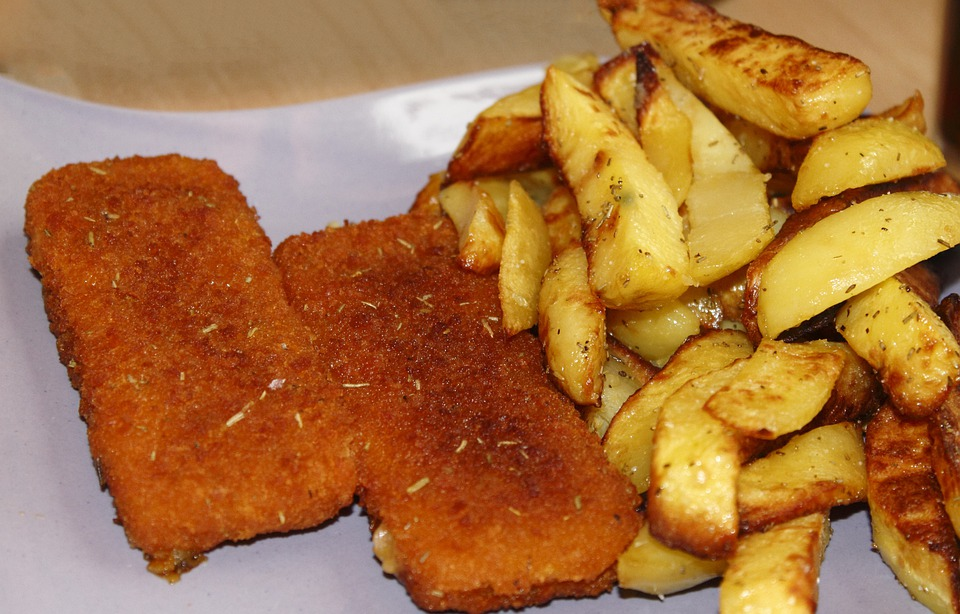 Fish And Chips, French, Eat, Food, Nutrition