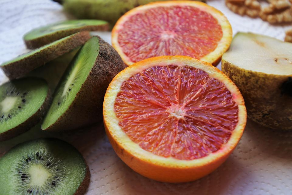 Mandarin, Citrus, Kiwi, Nutrition, Sectioned, Bio
