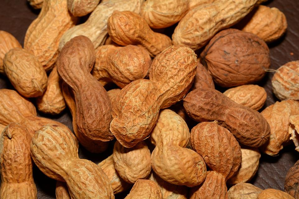 Nuts, Peanuts, Healthy, Nutrition, Close