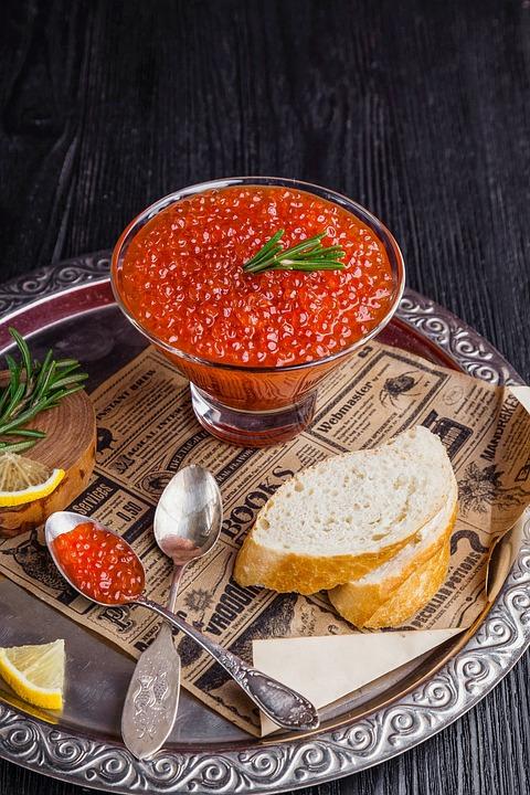 Red Caviar, Caviar, Food, Nutrition, Salmon, Appetizer