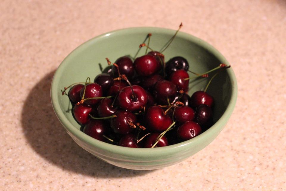 Bowl, Vintage, Cherries, Fruit, Summer, Nutritious