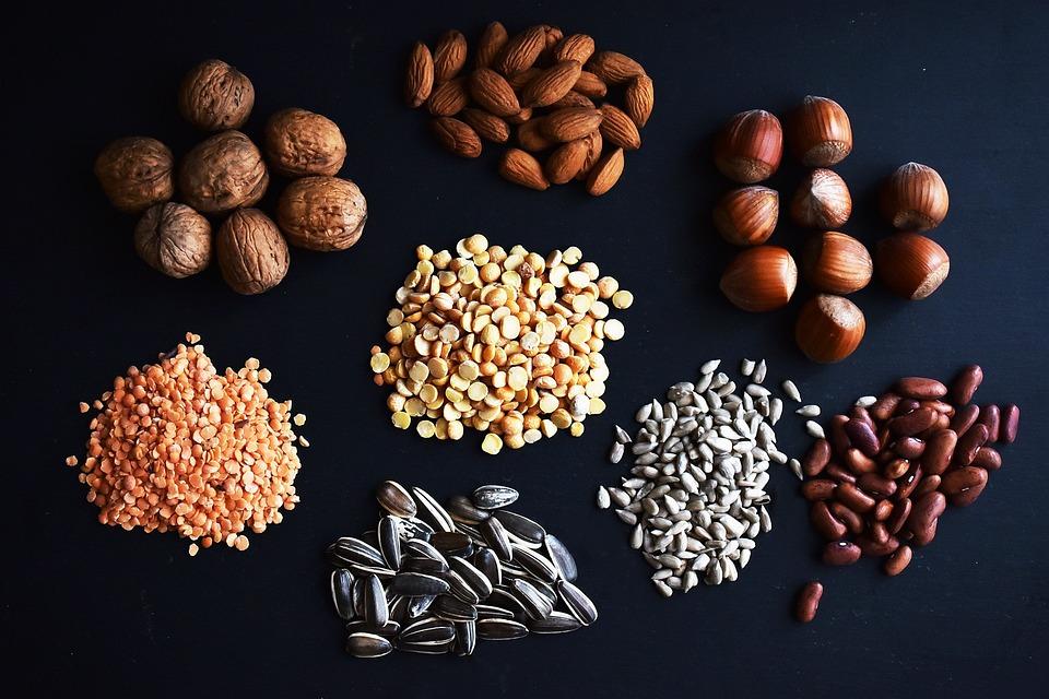 Legumes, Nuts, Health, Hazelnuts, Lens, Beans