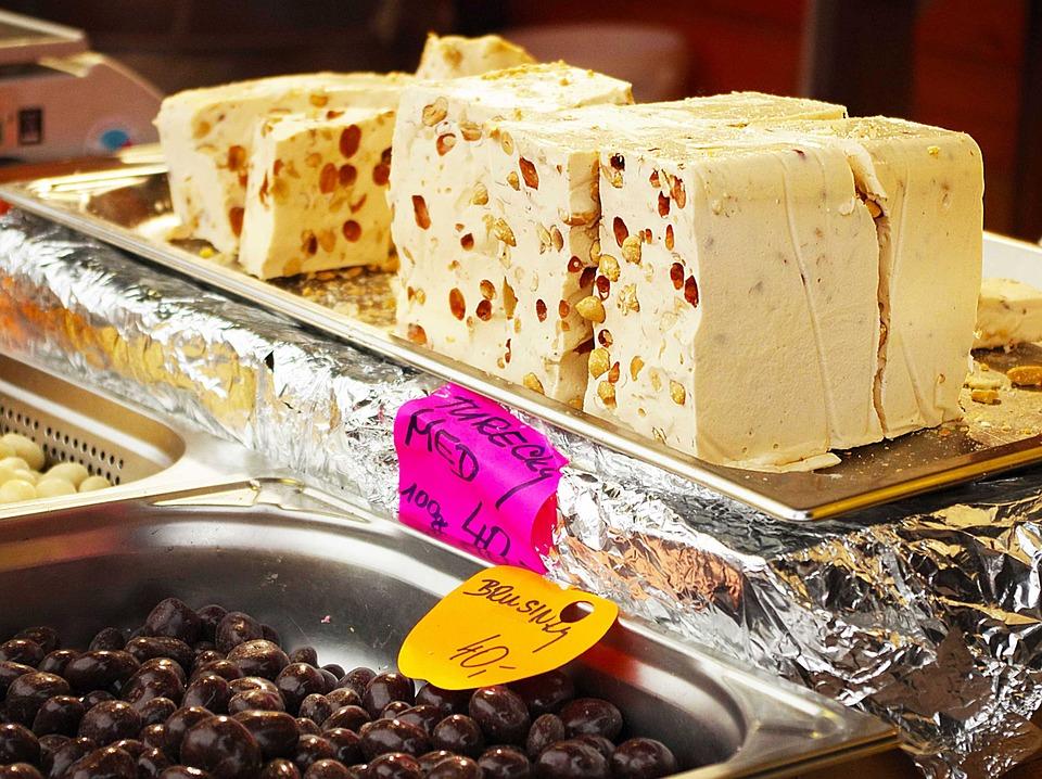 Halva, Sweetness, Nuts, White, Markets