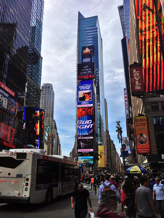 Times Square, Ny City, New York, Architecture, Skyline