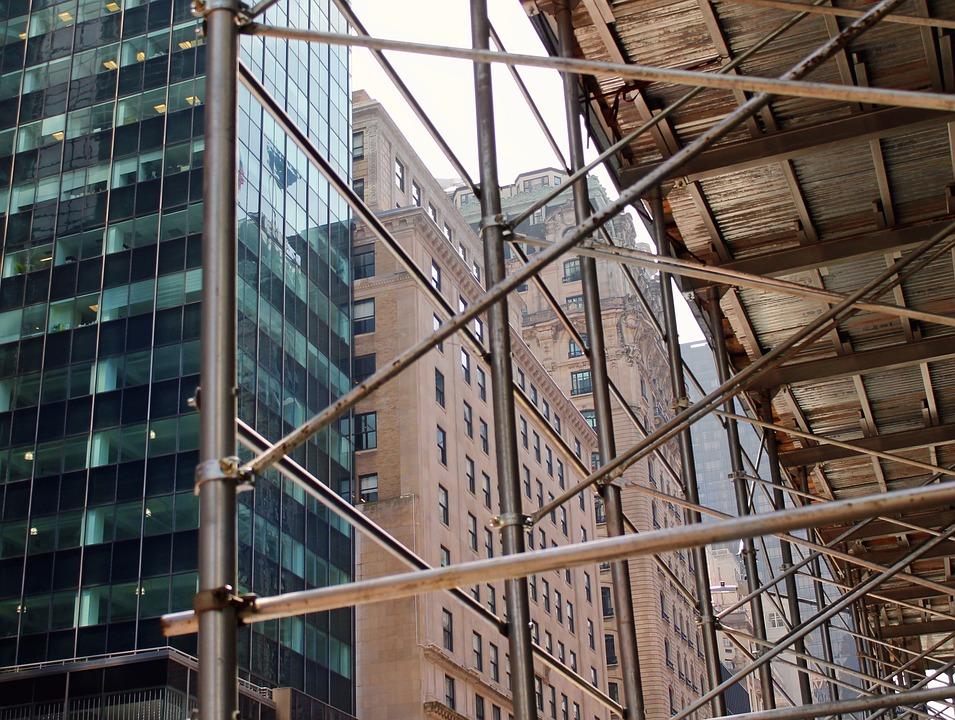 Skyscrapers, Construction, Building, New York, Nyc, Ny