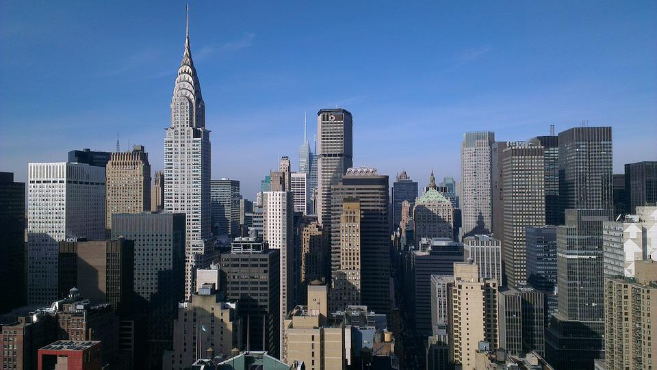 Nyc, New York, Skyline, Skyscraper, Chrysler, Manhattan