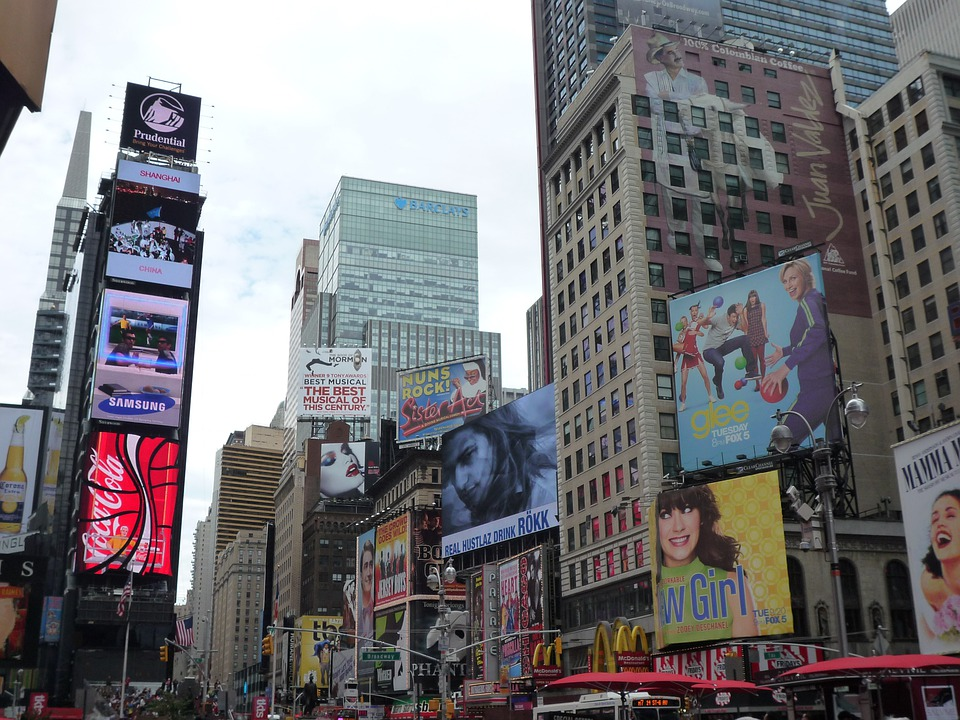 Usa, New York City, Nyc, Broadway, Time Square