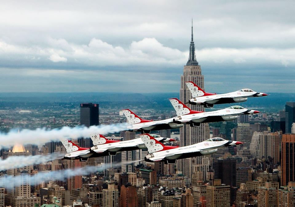 Fighter Jets, New York, Ny, Nyc, New York City, City